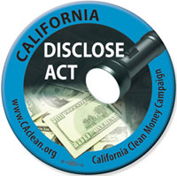 California DISCLOSE Act Button